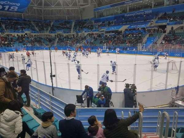 Gangneung Ice Hockey Centre, secção: 109, fila: D, lugar: 2