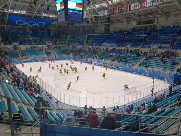 Gangneung Ice Hockey Centre, secção: 226, fila: D, lugar: 6