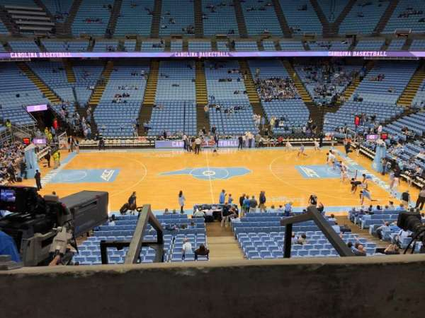 Dean E. Smith Center, secção: 225, fila: A , lugar: 10