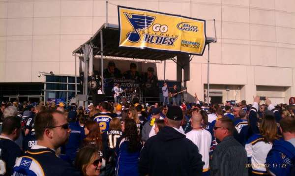 Enterprise Center, secção: Blues playoff rally
