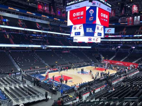 Capital One Arena, secção: 226, fila: A, lugar: 3