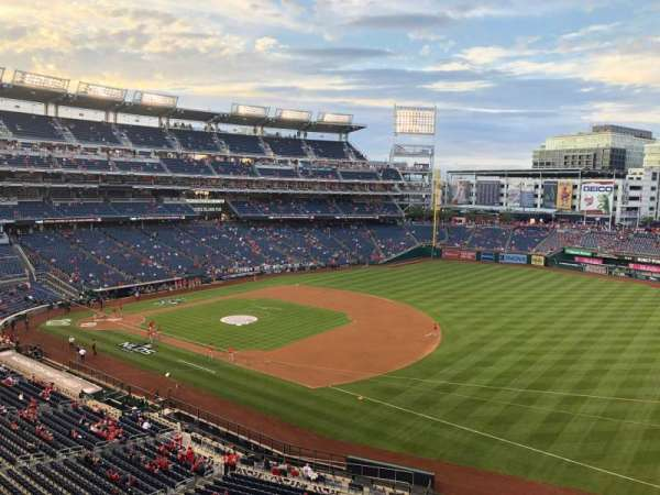 Nationals Park, secção: 222, fila: A, lugar: 1