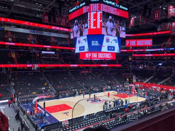 Capital One Arena, secção: 227, fila: B, lugar: 9