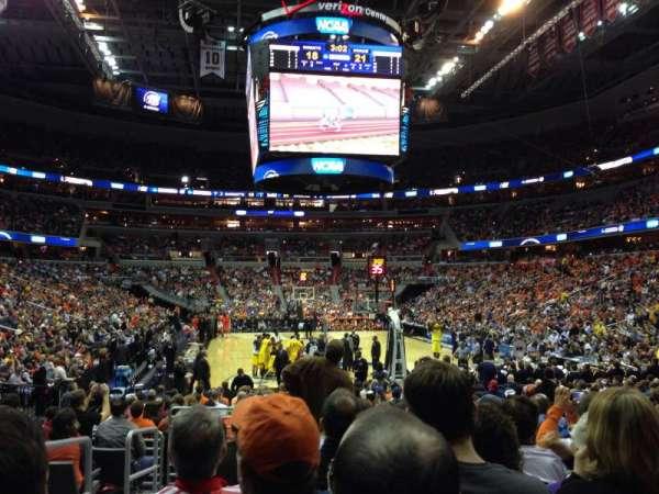 Capital One Arena, secção: 105, fila: K, lugar: 2
