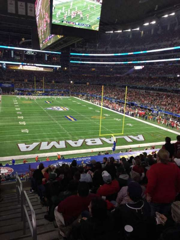 AT&T Stadium, secção: 124, fila: 6, lugar: 1