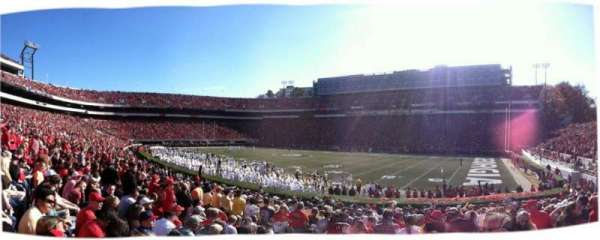 Sanford Stadium, secção: 103, fila: 19, lugar: 3