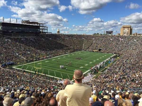 Notre Dame Stadium, secção: 116, fila: 25, lugar: 2