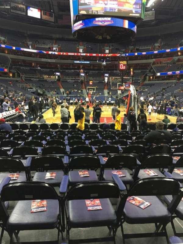 Capital One Arena, secção: 116, fila: A, lugar: 1