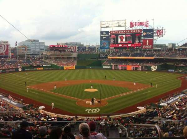 Nationals Park, secção: 213, fila: F, lugar: 1