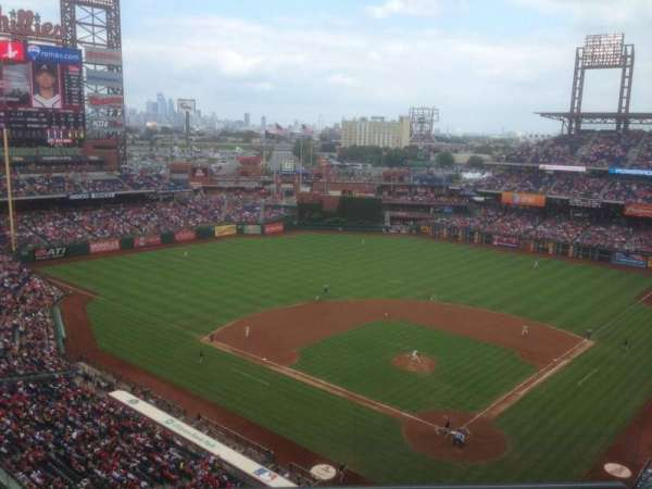 Citizens Bank Park, secção: 422, fila: 2, lugar: 8