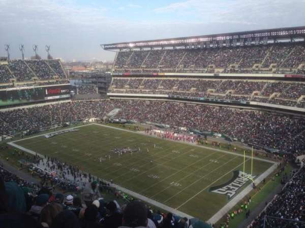 Lincoln Financial Field, secção: 207, fila: 16, lugar: 9