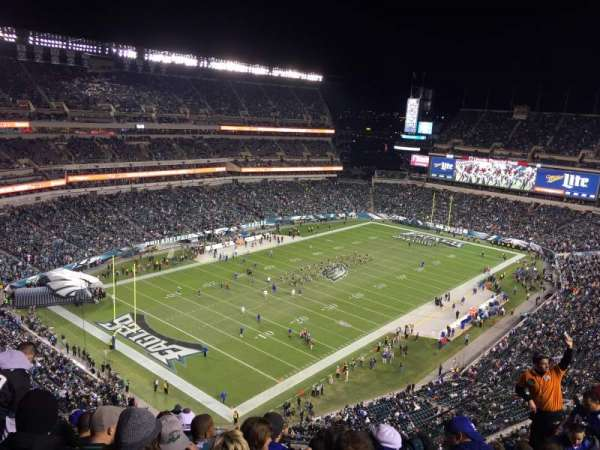 Lincoln Financial Field, secção: 218, fila: 13, lugar: 5