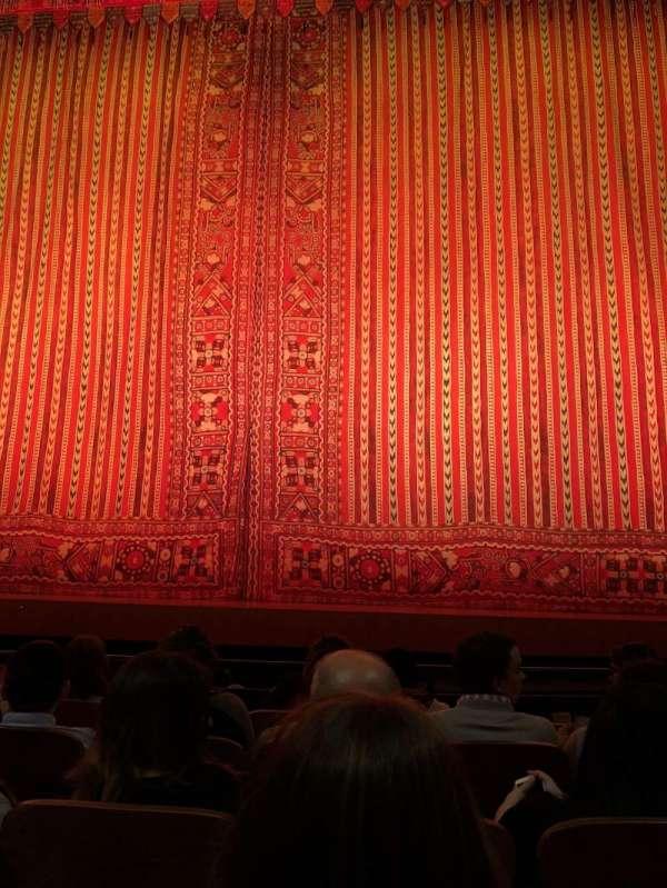 New Amsterdam Theatre, secção: Orchestra C, fila: E, lugar: 104