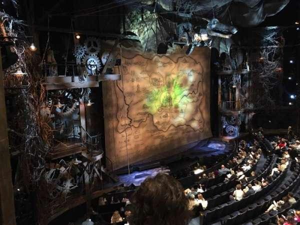 Gershwin Theatre, secção: Front Mezzanine L, fila: BB, lugar: 1