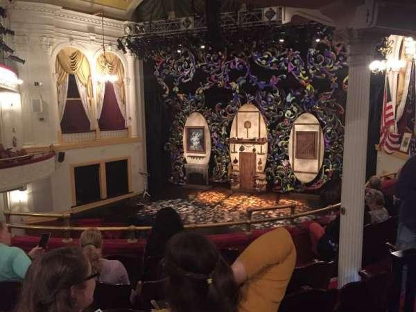 Ford's Theatre, secção: Balcony, fila: F, lugar: 10