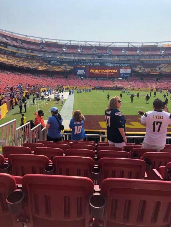 FedEx Field, secção: 113, fila: 11, lugar: 12
