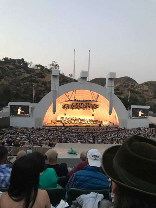 Hollywood Bowl, secção: J1, fila: 9, lugar: 4