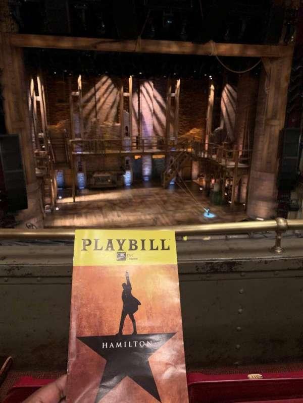 CIBC Theatre, secção: Mezzanine LC, fila: B, lugar: 313