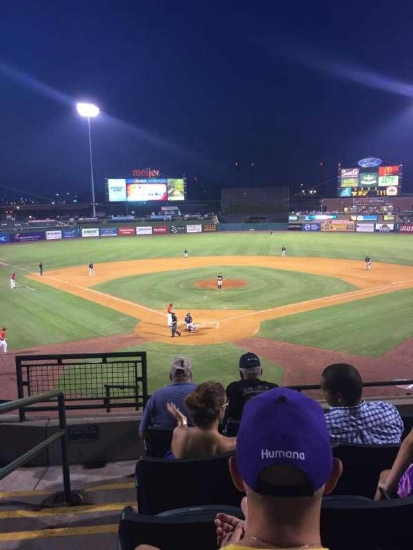 Louisville Slugger Field, secção: 214, fila: E, lugar: 16