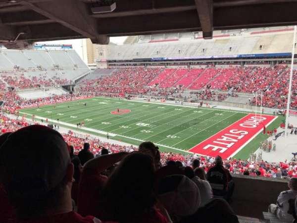 Ohio Stadium, secção: 10b, fila: 9, lugar: 1