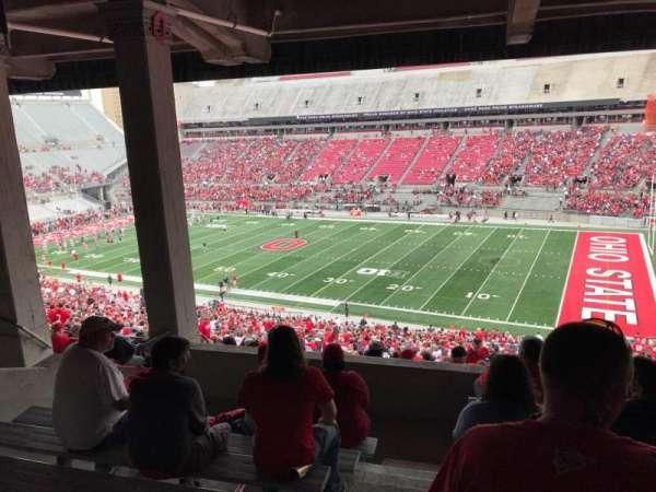 Ohio Stadium, secção: 12b, fila: 8, lugar: 17