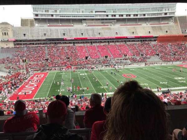 Ohio Stadium, secção: 22B, fila: 5, lugar: 2