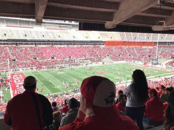 Ohio Stadium, secção: 24b, fila: 8, lugar: 18