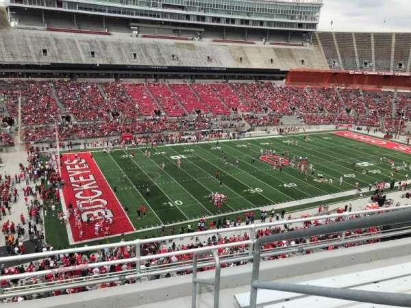 Ohio Stadium, secção: 28c, fila: 6, lugar: 18