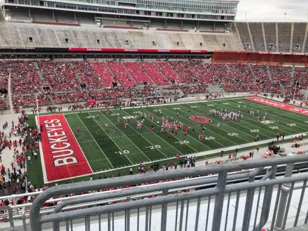 Ohio Stadium, secção: 28c, fila: 8, lugar: 17