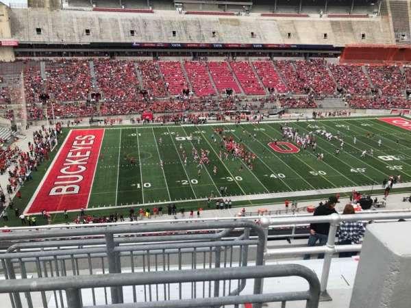 Ohio Stadium, secção: 26c, fila: 9, lugar: 13