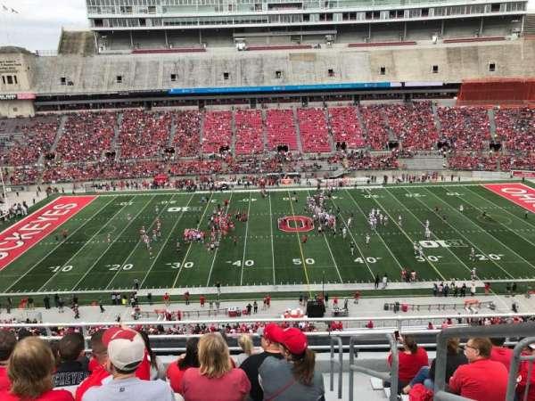 Ohio Stadium, secção: 22c, fila: 9, lugar: 17