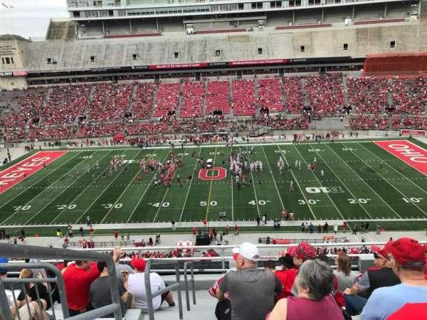 Ohio Stadium, secção: 20c, fila: 9, lugar: 35