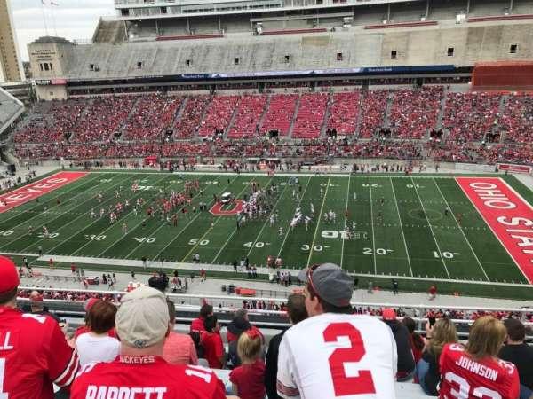 Ohio Stadium, secção: 18c, fila: 10, lugar: 28