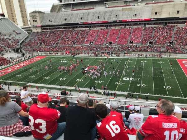 Ohio Stadium, secção: 18c, fila: 9, lugar: 19