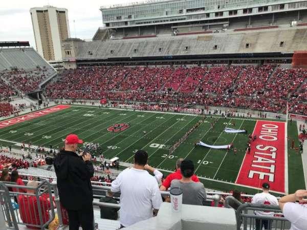 Ohio Stadium, secção: 16c, fila: 10, lugar: 5