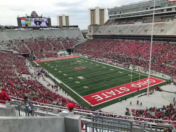 Ohio Stadium, secção: 10c, fila: 12, lugar: 1