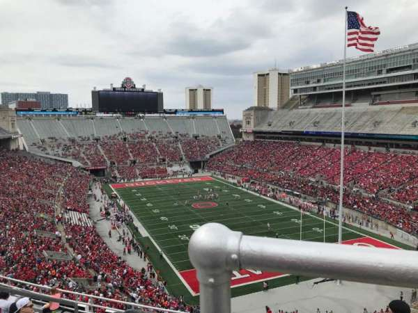 Ohio Stadium, secção: 8c, fila: 11, lugar: 9