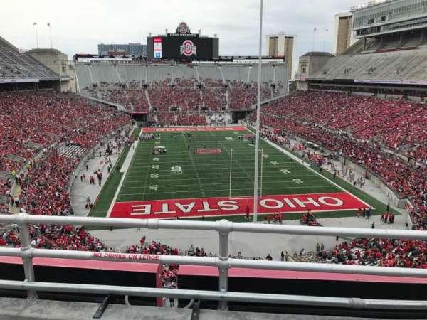 Ohio Stadium, secção: 4c, fila: 3, lugar: 15