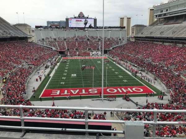 Ohio Stadium, secção: 4c, fila: 4, lugar: 5