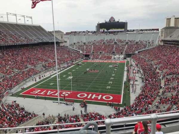 Ohio Stadium, secção: 5c, fila: 8, lugar: 3