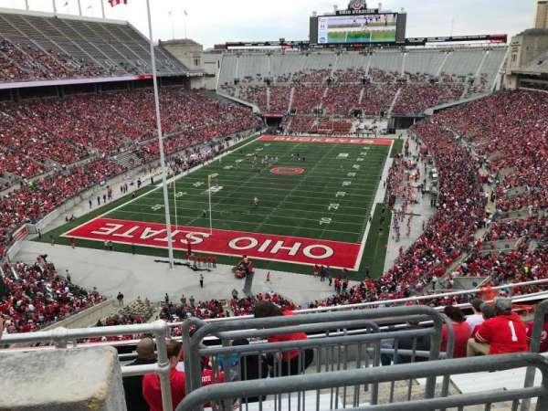 Ohio Stadium, secção: 5c, fila: 9, lugar: 11