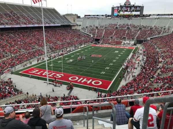 Ohio Stadium, secção: 5c, fila: 8, lugar: 28