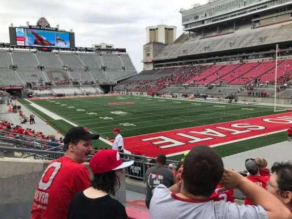 Ohio Stadium, secção: 10a, fila: 7, lugar: 6