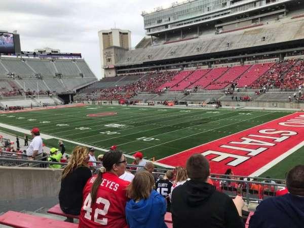 Ohio Stadium, secção: 12a, fila: 8, lugar: 10