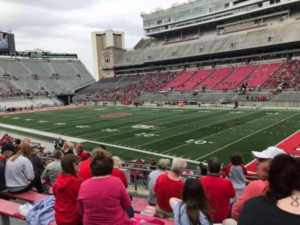Ohio Stadium, secção: 14a, fila: 7, lugar: 3