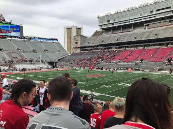 Ohio Stadium, secção: 16a, fila: 7, lugar: 2