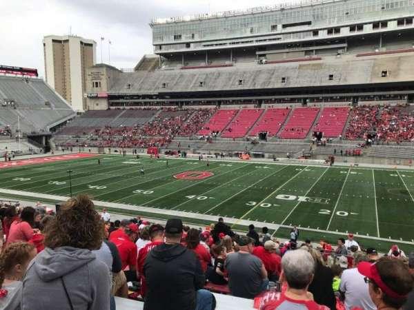 Ohio Stadium, secção: 18a, fila: 19, lugar: 3