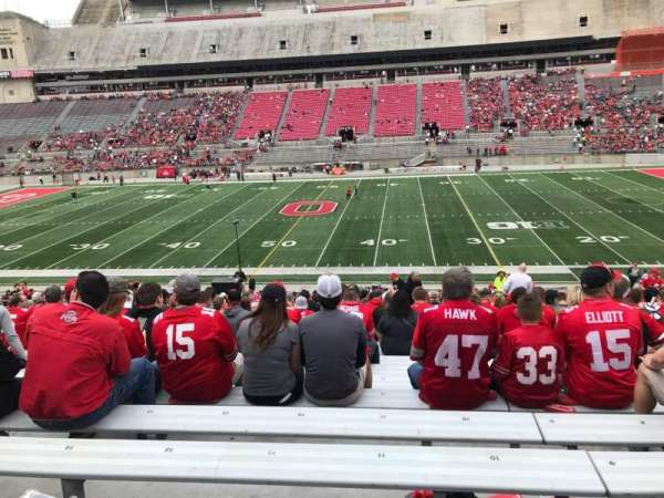 Ohio Stadium, secção: 20a, fila: 24, lugar: 11