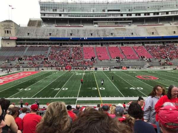 Ohio Stadium, secção: 24a, fila: 9, lugar: 7