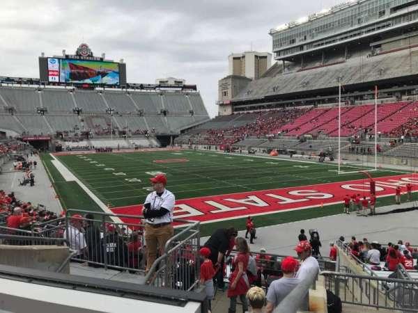 Ohio Stadium, secção: 8a, fila: 7, lugar: 13